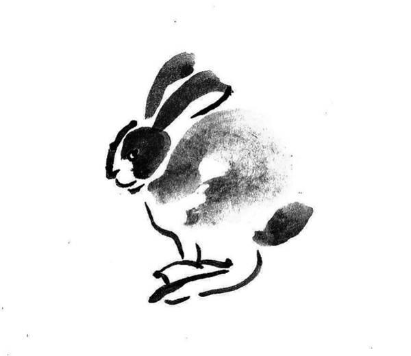 Black Buck Painting - Rabbit Buck by M E Wood
