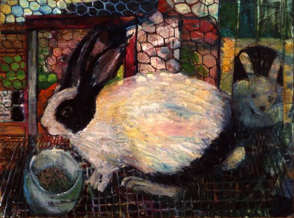 Rabbit Talk Art Print