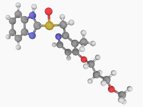 Compound Photograph - Rabeprazole Drug Molecule by Laguna Design/science Photo Library