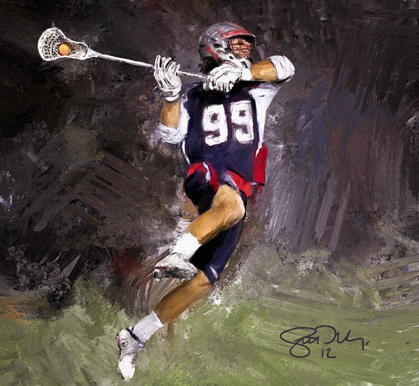 Lax Painting - Rabil Lacrosse by Scott Melby