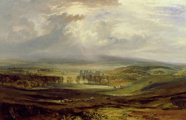 Seat Painting - Raby Castle by Joseph Mallord William Turner