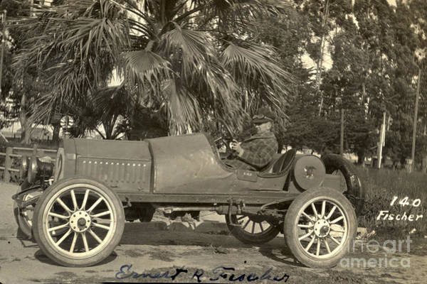 Photograph - Race Car Photo By E. R. Fischer Circa 1920 by California Views Archives Mr Pat Hathaway Archives