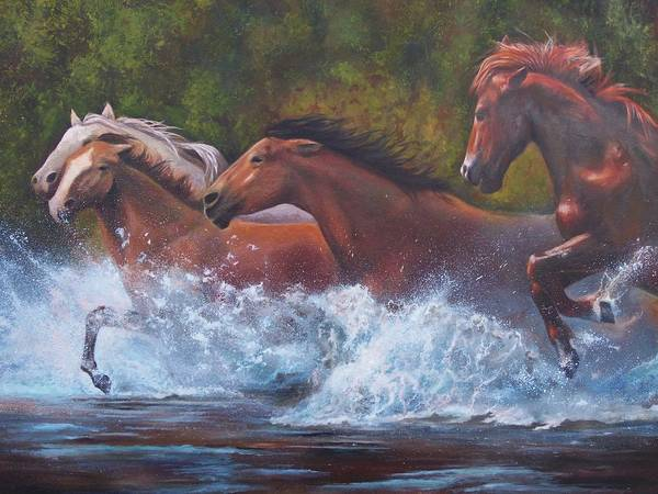 Wall Art - Painting - Race For Freedom by Karen Kennedy Chatham