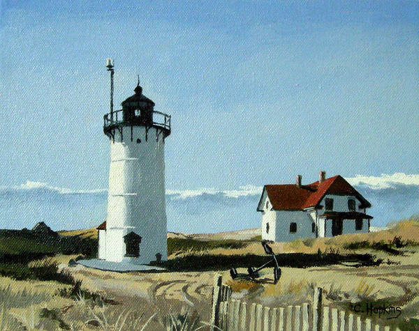 Wall Art - Painting - Race Point Lighthouse Provincetown Cape Cod Massachusetts by Christine Hopkins