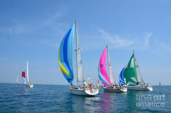 Photograph - Race To Mackinac by Randy J Heath