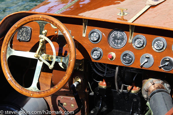 Outboard Engine Photograph - Racer Dash by Steven Lapkin
