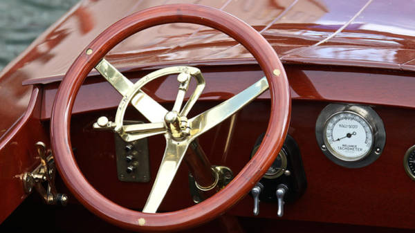 Outboard Engine Photograph - Racer Wheel by Steven Lapkin