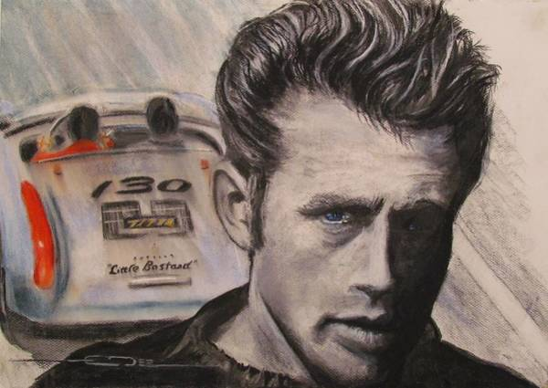 Drawing - Racers Road - Final Ride by Eric Dee