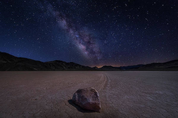 Valleys Photograph - Racetrack To Milky Way by Michael Zheng