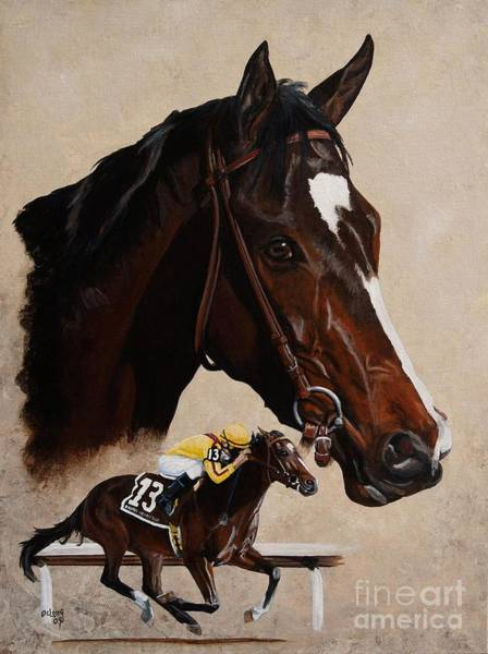 Wall Art - Painting - Rachel Alexandra by Pat DeLong