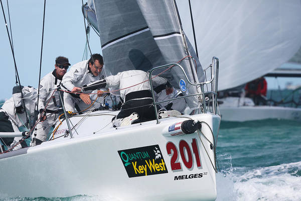 Photograph - Racing Action At Key West by Steven Lapkin
