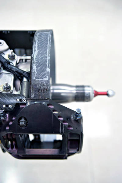 Brake Wall Art - Photograph - Racing Car Hub Assembly by Gustoimages/science Photo Library
