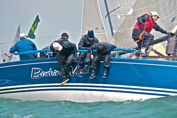 Racing Yacht Photograph - Racing Mad by Steven Lapkin