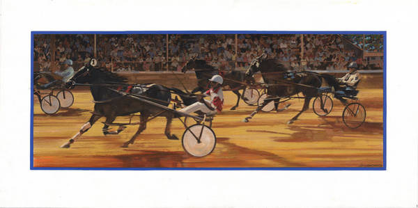 Wall Art - Painting - Racing Pacers And Carts by Don  Langeneckert