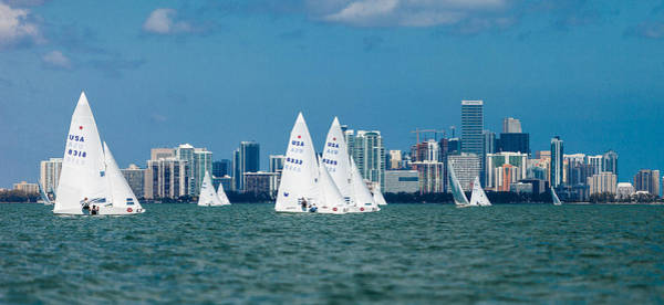 Bacardi Photograph - Racing Past Miami by David Smith