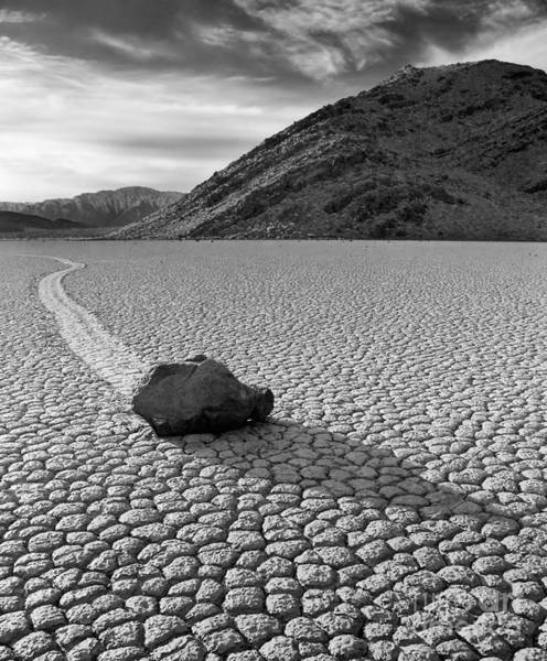 Death Valley Np Photograph - Racing Rock by Don Hall