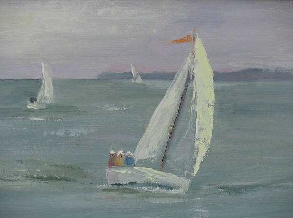 Painting - Racing Sails by Judy Fischer Walton