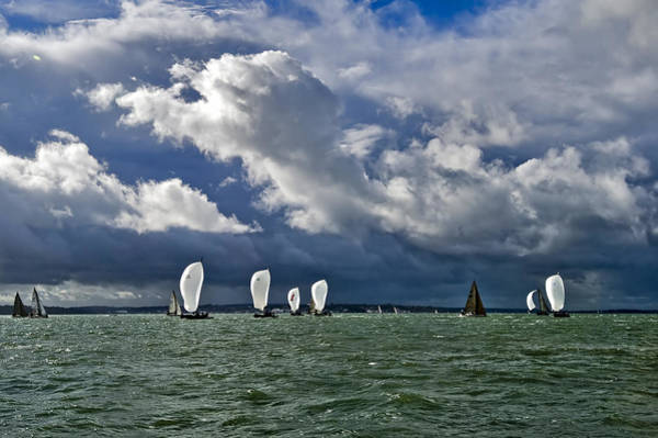 Photograph - Racing Yachts In The Solent by Gary Eason