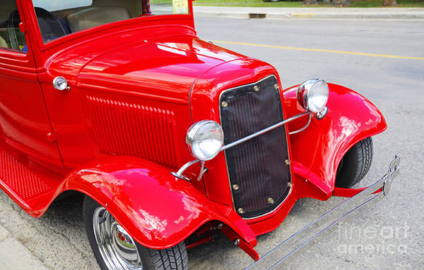 Photograph - Racy Red 1933 Ford Truck by Brenda Kean
