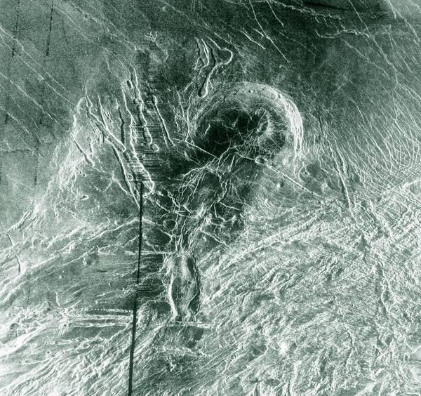 Laksmi Wall Art - Photograph - Radar Image Of Lakshmi Planum by Nasa/science Photo Library