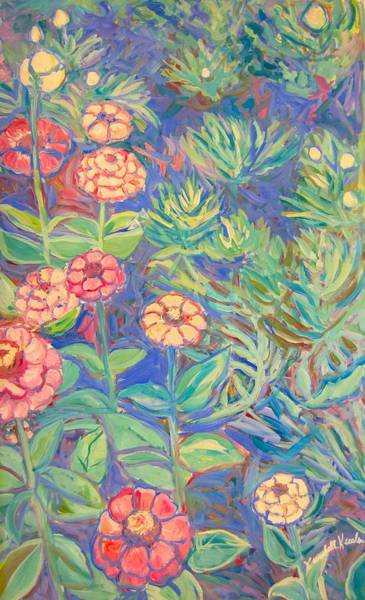 Painting - Radford Library Butterfly Garden by Kendall Kessler