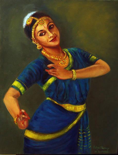 Painting - Radha Playing Krishna by Asha Sudhaker Shenoy