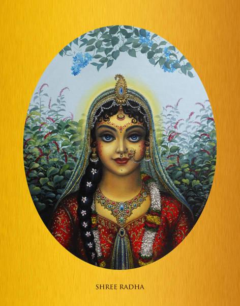 Peacocks Painting - Radha by Vrindavan Das