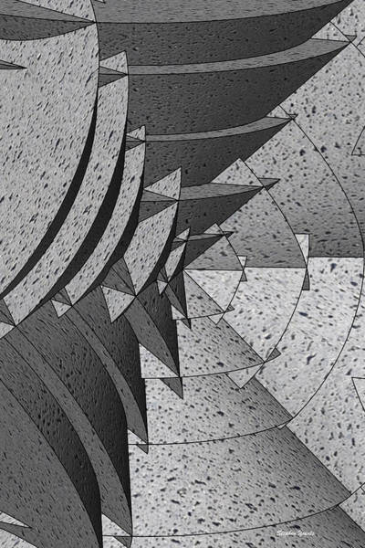 Wall Art - Digital Art - Radial Edges - Concrete by Stephen Younts