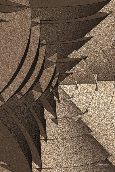 Wall Art - Digital Art - Radial Edges - Earth by Stephen Younts