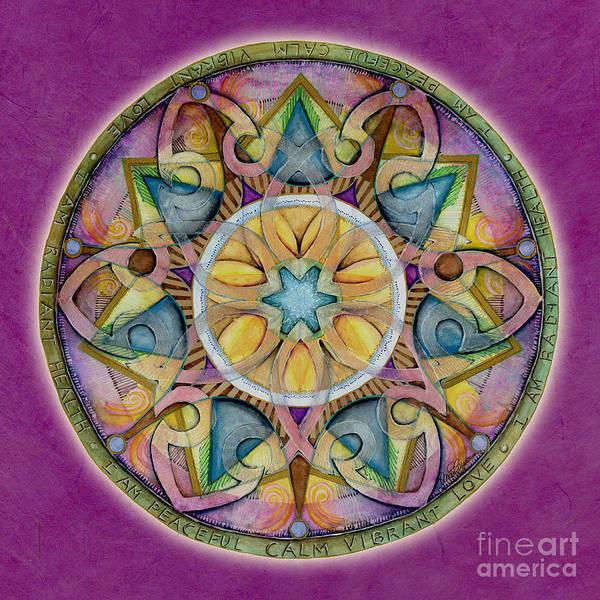 Painting - Radiant Health Mandala by Jo Thomas Blaine
