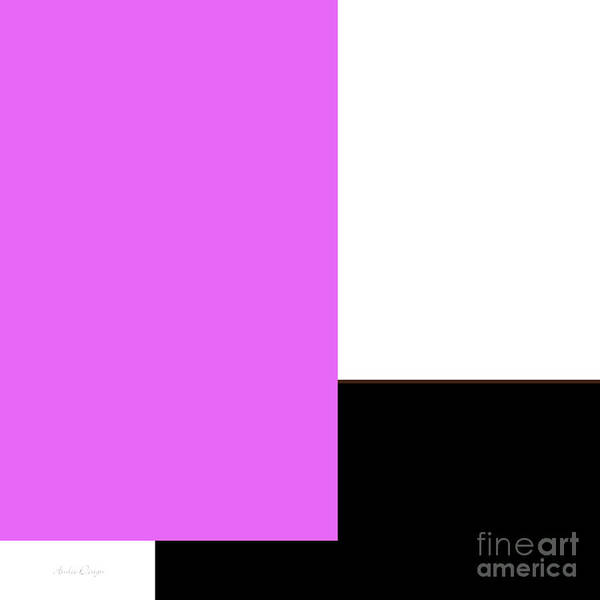 Digital Art - Radiant Orchid And Black 1 Square by Andee Design