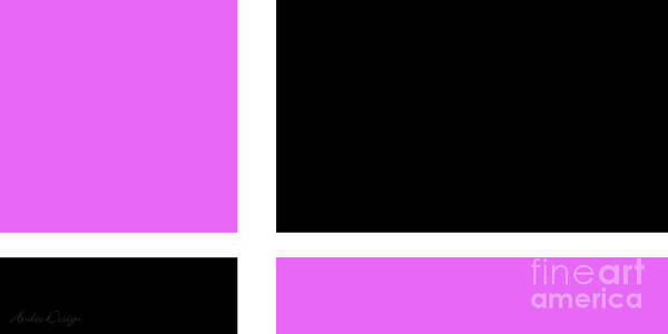 Digital Art - Radiant Orchid And Black 2 by Andee Design