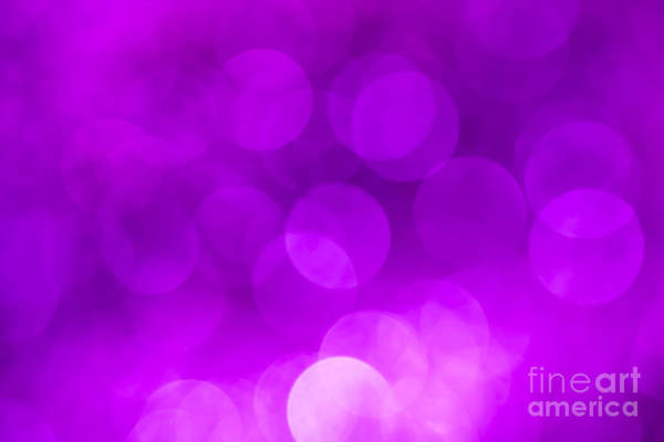 Radiant Photograph - Radiant Orchid Bokeh by Jan Bickerton