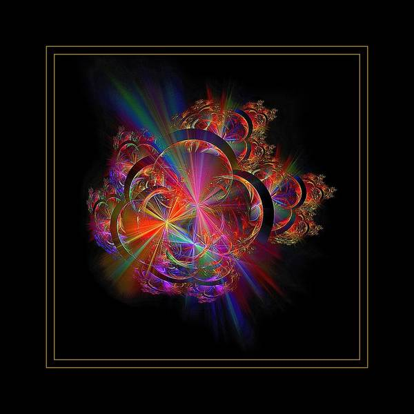 Digital Art - Radiant Rings Framed  by Doug Morgan