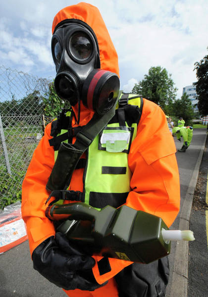 Nbc Photograph - Radiation Emergency Response Worker by Public Health England
