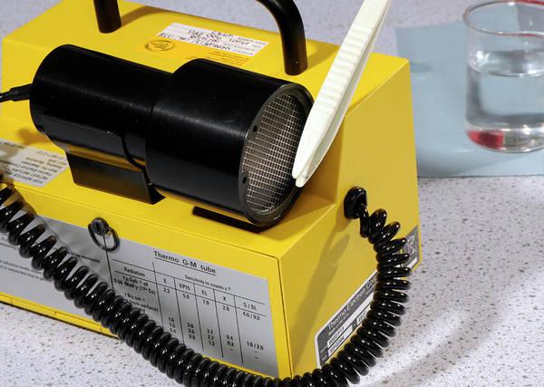 Radiation Wall Art - Photograph - Radiation Monitor Testing by Public Health England