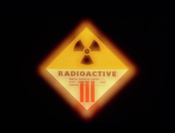 Radiation Wall Art - Photograph - Radiation Warning Symbol by Martin Bond/science Photo Library