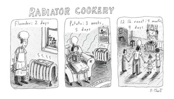 February 16th Drawing - Radiator Cookery by Roz Chast