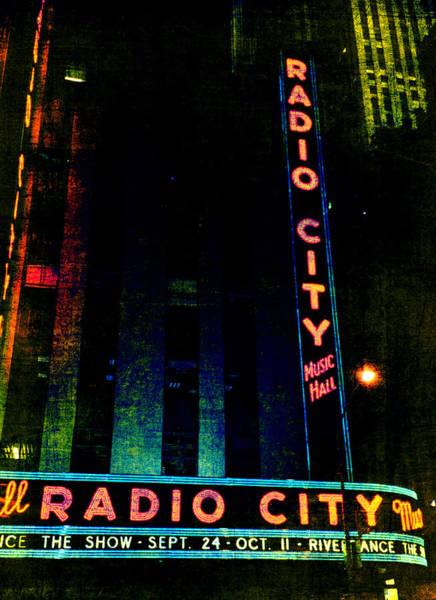 Photograph - Radio City Grunge by Joann Vitali