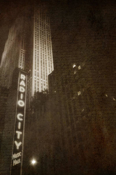 Photograph - Radio City Memories by Joann Vitali