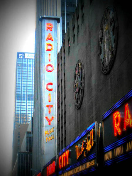 Rockettes Photograph - Radio City Music Hall by Kimberly Perry