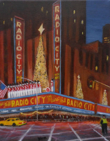 Avenue Of The Americas Painting - Radio City Music Hall New York City by Chris Weir