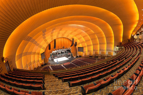 Center Stage Photograph - Radio City Music Hall V by Clarence Holmes