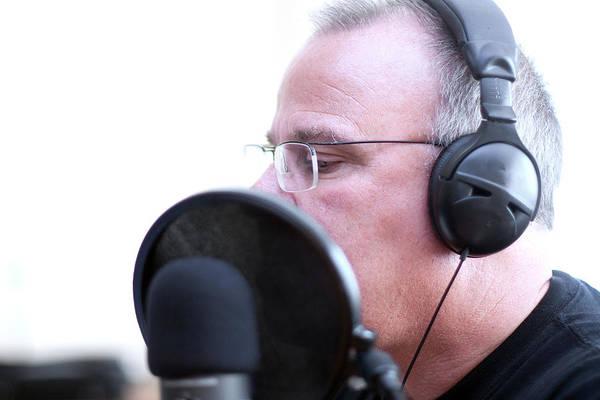 Photograph - Radio Host With Head Phones by Gunter Nezhoda