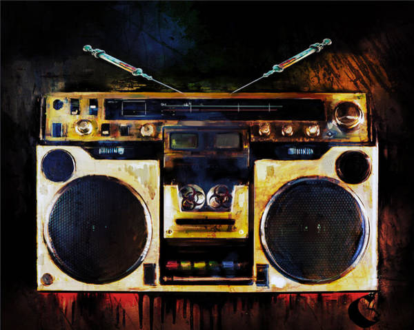 Dope Mixed Media - Radio Is Killing Me by Howard Barry