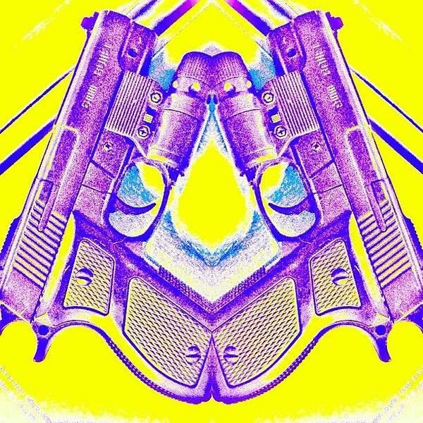 Handguns Photograph - Radioactive Battlefield. || by Amanda Hanson
