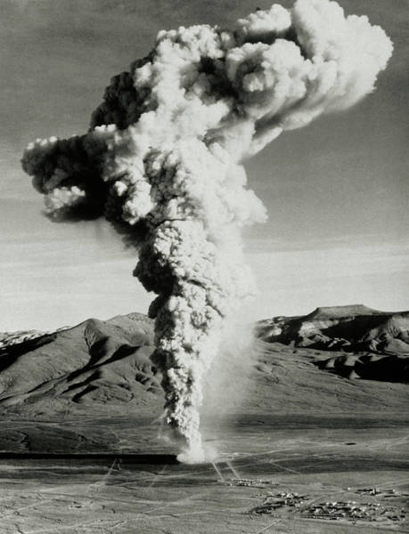 Radioactive Photograph - Radioactive Dust Cloud After Nuclear Test by Us Department Of Energy/science Photo Library