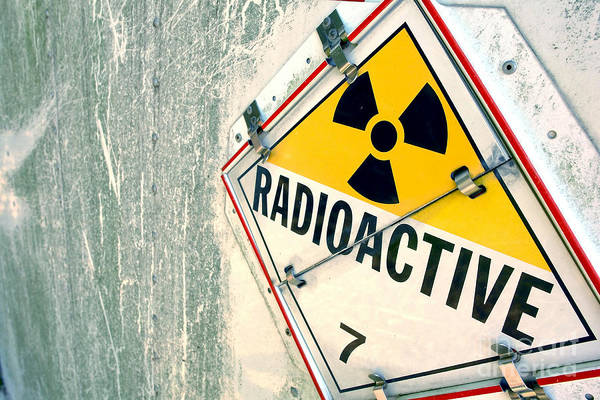 Radioactive Warning Sign Art Print