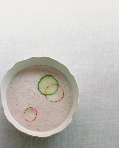 Vegetable Photograph - Radish Buttermilk Soup by Romulo Yanes