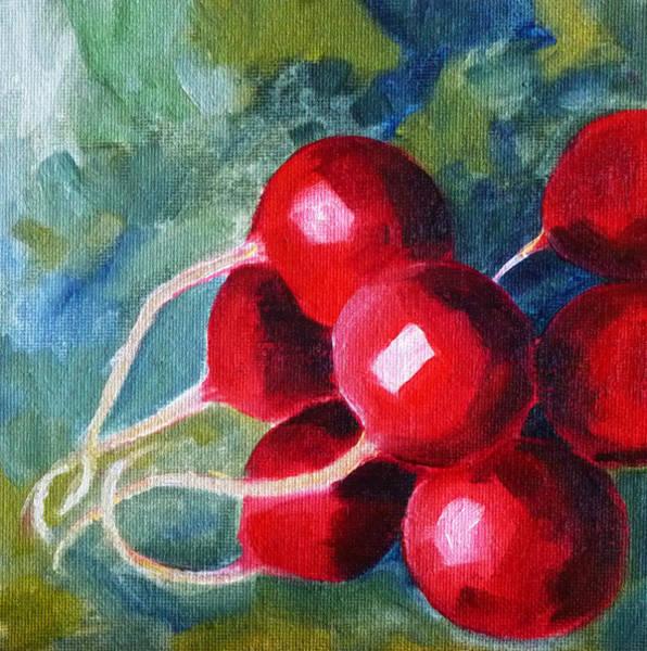 Vegan Painting - Radish by Nancy Merkle